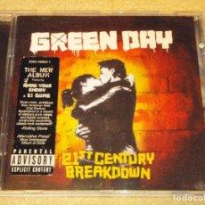 CDs de Música: GREEN DAY ''21ST CENTURY BREAKDOWN'' 2009-USA CD. Lote 83915616