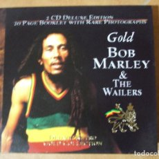 CDs de Música: 2 CD DELUXE EDITION GOLD BOB MARLEY & AND THE WAILERS INCLUYE LIBRITO DE 20 PAGINAS FOTOS INÉDITAS. Lote 84016016