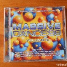 CDs de Música: CD MASSIVE DANCE 99 - VOLUME 2 (2 CD) (1F). Lote 84037356