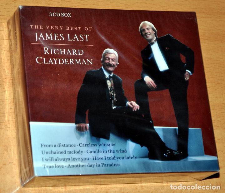 ESTUCHE DE 3 CD: THE VERY BEST OF JAMES LAST & RICHARD CLAYDERMAN - DISKY 2004, NUEVO / NEW & SEALED (Música - CD's Melódica )