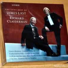 CDs de Música: ESTUCHE DE 3 CD: THE VERY BEST OF JAMES LAST & RICHARD CLAYDERMAN - DISKY 2004, NUEVO / NEW & SEALED. Lote 84410244