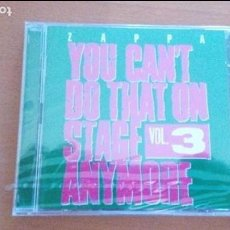 CDs de Música: FRANK ZAPPA YOU CAN´T DO THAT ON STAGE ANYMORE VOL. 3 CD ¡¡PRECINTADO¡¡. Lote 84457336