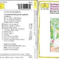 CDs de Música: JOAQUÍN RODRIGO - CONCIERTO DE ARANJUEZ Y CONCIERTO MADRIGAL / SALVADOR BACARISSE - CONCERTINO. Lote 84469184
