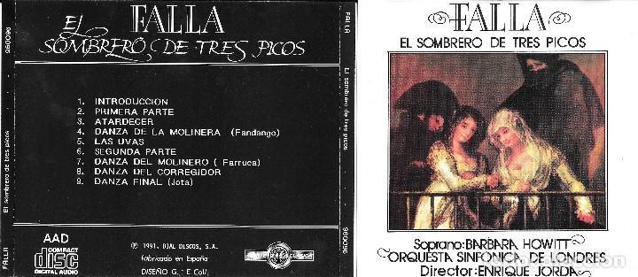 MANUEL DE FALLA - EL SOMBRERO DE TRES PICOS (Música - CD's Clásica, Ópera, Zarzuela y Marchas)