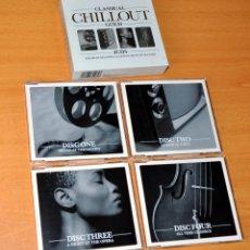 CDs de Música: ESTUCHE DE 4 CDS: CLASSICAL CHILLOUT GOLD - VARIOS INTERPRETES - DECADANCE RECORDINGS 2002. Lote 84594652