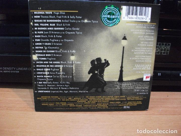 CDs de Música: BANDA SONORA ORIGINAL - VARIOS THE TANGO LESSON CD HOLANDA 1997 PDELUXE - Foto 2 - 84727900