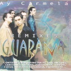 CDs de Música: GUARANA - AY CARMELA REMIXES CD SINGLE 7 TEMAS 2001 . Lote 84912336
