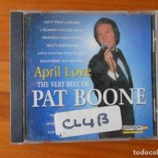CDs de Música: CD APRIL LOVE - THE VERY BEST OF PAT BOONE (1I). Lote 84917236