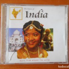 CDs de Música: CD THE MUSIC OF INDIA - MUSIC FROM AROUND THE WORLD (1K). Lote 84927536