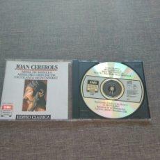 CDs de Música: CD CEREROLS 2 MESSEN ESCOLANIA MONTSERRAT - 19 TRACKS - EMI RECORDS 1988 - RARE. Lote 85074418