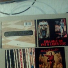 CDs de Música: CARATULA CD AVAILBLE ON VHS & LASER DISC. Lote 85086966