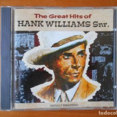 CDs de Música: CD THE GREAT HITS OF HANK WILLIAMS SNR. (1O). Lote 85616392