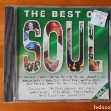 CDs de Música: CD THE BEST OF SOUL VOL. 2 - SEX MACHINE, SITTIN ON THE DOCK OF THE BAY, STAND BY ME... (1O). Lote 85662924