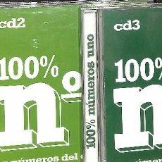 CDs de Música: CD - 100 % Nº 1 - LOS NÚMEROS UNO DEL DANCE ACTUAL - 3 CDS / 2004. Lote 85676468