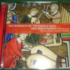 CDs de Música: INSTRUMENTS OF THE MIDDLE AGES AND RENAISSANCE / INSTRUMENTOS DE LA EDAD MEDIA Y RENACIMIENTO / 2 CD. Lote 85755680