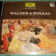 CDs de Música: JOHANN STRAUSS / WALZER & POLKAS / VALSES Y POLCAS / KARAJAN / DEUTSCHE GRAMMOPHON / CD. Lote 85758008
