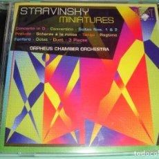 CDs de Música: IGOR STRAVINSKY / MINIATURES / ORPHEUS CHAMBER ORCHESTRA / BRILLIANT CLASSICS / CD. Lote 85758264