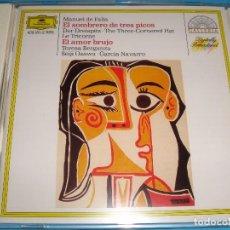 CDs de Música: MANUEL DE FALLA / EL SOMBRERO DE TRES PICOS / EL AMOR BRUJO / TERESA BERGANZA / SEIJI OZAWA / CD. Lote 85758552