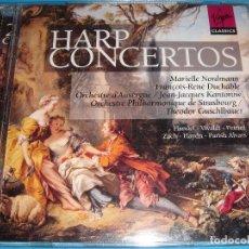 CD de Música: HARP CONCERTOS / MÚSICA CLÁSICA PARA HARPA / HANDEL, VIVALDI, ETC / VIRGIN CLASSICS / 2 CD. Lote 85883392