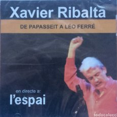 CDs de Música: XAVIER RIBALTA 2CDS. DE PAPASSEIT A LEO FERRÉ EL DIERECTE A L'ESPAI. Lote 85961547