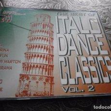 CDs de Música: CD. DOBLE . VARIOS - THE BEST OF ITALO DANCE CLASSICS ( NEW ). Lote 86355476