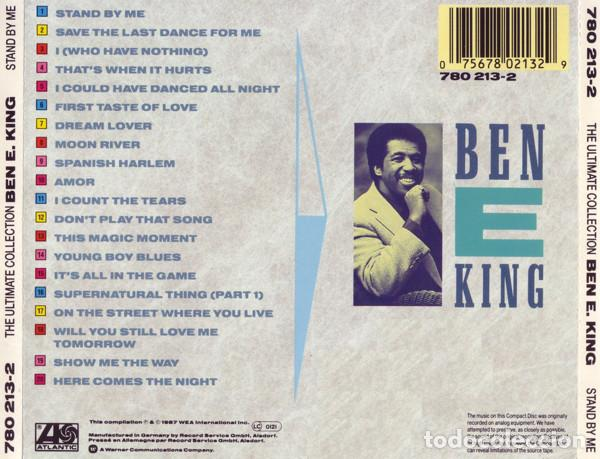 CDs de Música: Ben E. King ‎- The Ultimate Collection: Stand By Me-soul funk - Foto 2 - 86375392