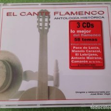 CDs de Música: EL CANTE FLAMENCO ANTOLOGIA HISTORICA - 3 CDS. Lote 86528272