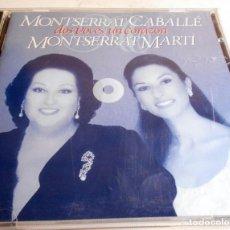 CDs de Música: MONSERRAT CABALLÉ DOS VOCES,UN CORAZÓN.MONTSERRAT MARTÍ CANCIONES NAVIDEÑAS. LOTE 2 CD,S.. Lote 86569144