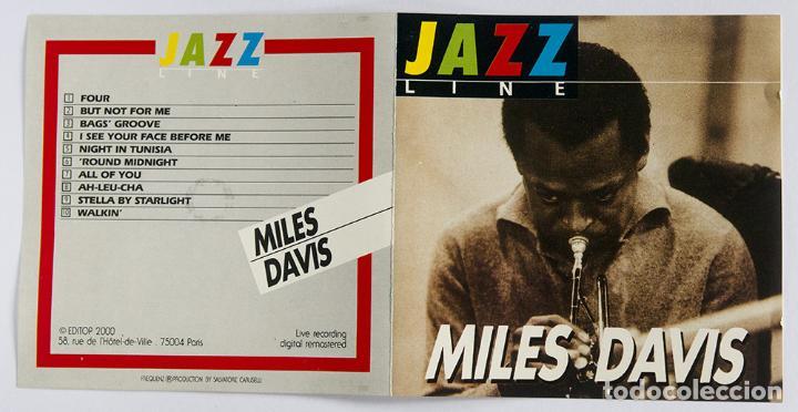 CDs de Música: CD MILES DAVIS - JAZZ LINE Live recording. Editop 2000 Paris MUY RARO - Foto 3 - 86583076