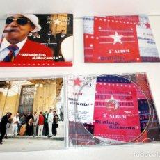 CDs de Música: JUAN DE MARCOS AFRO CUBAN ALL STARS, DISTINTO, DIFERENTE, CD + LIBRETO EXCELENTE. Lote 122672063