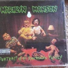 CDs de Música: MARILYN MANSON , PORTRAIT OF AN AMERICAN FAMILY , CD 1994 PERFECTO ESTADO. Lote 86635052
