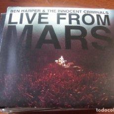 CDs de Música: BEN HARPER LIVE FROM MARS DOBLE CD. Lote 86671496