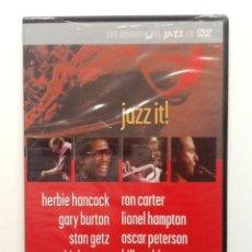CDs de Música: JAZZ IT HERBIE HANCOCK-LIONEL HAMPTON,STAN GETZ,OSCAR PETERSON,CHICK COREA,DVD LOS GRANDES DEL JAZZ . Lote 86863820