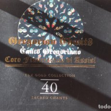 CDs de Música: CANTOS GREGORIANOS-COROS FRANCESCANO DI ASSISI 2 CDS. 1997 THE GOLD COLLECTION. Lote 87015060