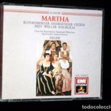CDs de Música: 2CD - MARTHA - FLOTOW - ROTHENBERGER - FASSBAENDER - GEDDA PREY - WELLER - KNOBLICH - DIR. HEGER -. Lote 87083296