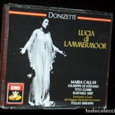 CDs de Música: 2CD - LUCIA DI LAMMERMOOR - MARIA CALLAS - GIUSEPPE DI STEFANO - GOBBI - ARIE - TULLIO SERAFIN. Lote 87084144