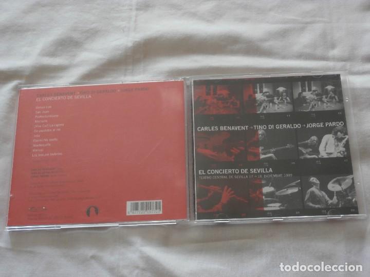CARLES BENAVENT CD (2000) CONCIERTO DE SEVILLA 18.12.1999 - SUPER RAREZA -BUENA CONDICION (Música - CD's Jazz, Blues, Soul y Gospel)