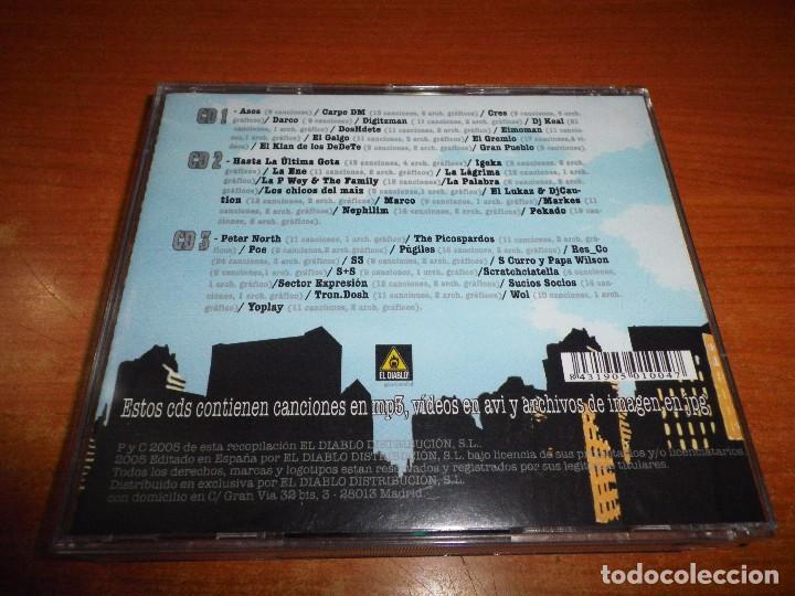 CDs de Música: MP3 AP SEGUNDA ENTREGA CD TRIPLE SOLO PARA LECTORES DE MP3 500 TRACKS HIP HOP COMPRIMIDO 2005 - Foto 4 - 87448896