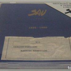CDs de Música: CD - SAU - 1986 - 1995 - SAU - CANÇONS PERDUDES RARESES, REMESCLES - SAU. Lote 87484308