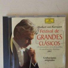 CDs de Música: CD KARAJAN FESTIVAL DE GRANDES CLÁSICOS 1997 ED. LIMITADA Nº 32905. Lote 87551476