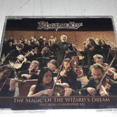 CDs de Música: RHAPSODY - CD SINGLE THE MAGIC OF THE WIZARD´S DREAM FEATURING CHRISTOPHER LEE MAGIC CIRCLE SPV. Lote 87613264