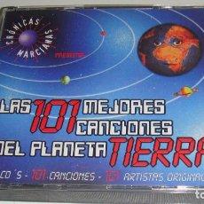 CDs de Música: 5XCD- LAS 101 MEJORES CANCIONES DEL PLANETA TIERRA - CRONICAS MARCIANAS -. Lote 91277885