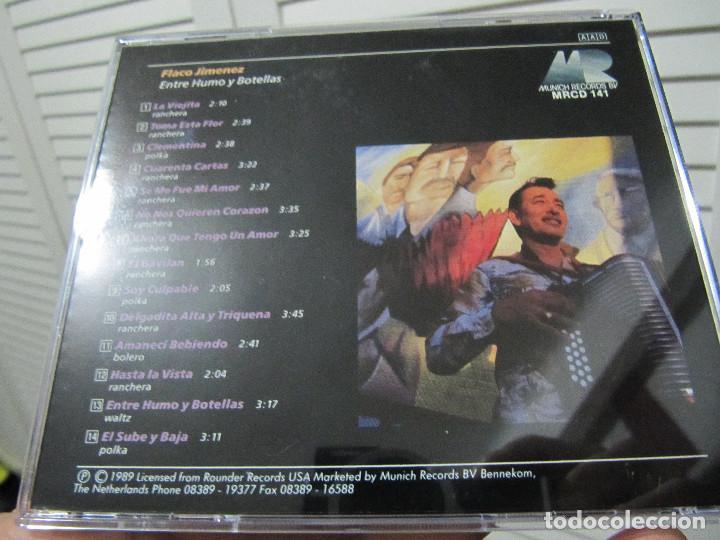 CDs de Música: Flaco Jimenez – Entre Humo Y Botellas MRCD 141-1989-14 TEMAS - Foto 2 - 88058428