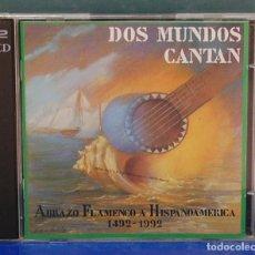 CDs de Música: LMV - DOS MUNDOS CANTAN. PASARELA 1992. CD DOBLE. Lote 180330438