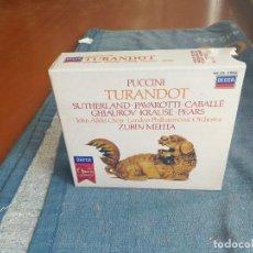 CDs de Música: TURANDOT - PUCCINI - LIBRETO MAS DOS CDS. Lote 88170332