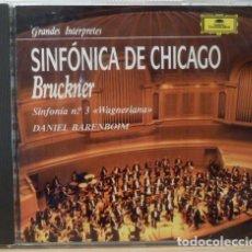 CDs de Música: DANIEL BARENBOIM, SINFONICA DE CHICAGO - ANTON BRUCKNER. Lote 88109544
