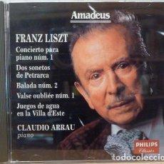 CDs de Música: CLAUDIO ARRAU - FRANZ LISZT. Lote 88109867