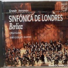 CDs de Música: SIR COLIN DAVIS - SINFONICA DE LONDRES - BERLIOZ, OBERTURAS. Lote 88109684