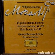 CDs de Música: MOZART - PEQUE¥A SERENATA NOCTURNA Y MAS. Lote 88337978