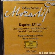 CDs de Música: MOZART - REQUIEM KV 626. Lote 88337994